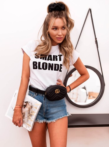 T-SHIRT SMART BLONDE - biały