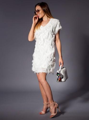 Sukienka LAURENCE ZŁAMANA BIEL
