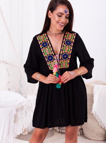 Sukienka AUGUS - czarna