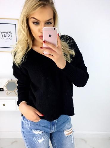 Sweterek MIREYA - czarny