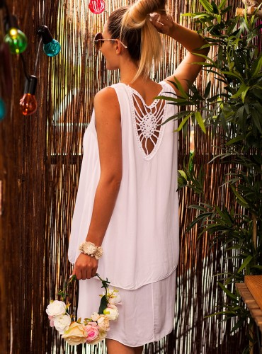 Sukienka BOHO SOFT WHITE