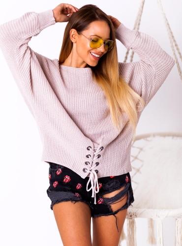 Sweterek Soul - pudrowy róż