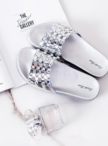 Klapki crystal - silver