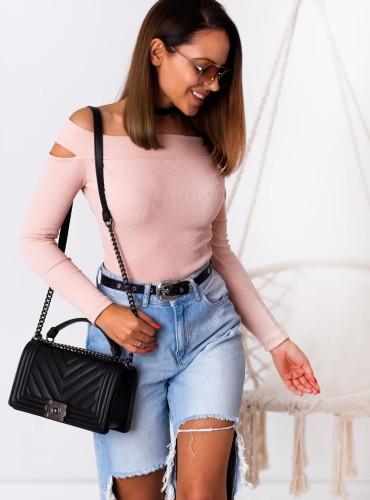 Bluzeczka justine - pudrowy róż