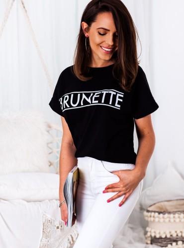 T-shirt BRUNETTE NEW - czarny