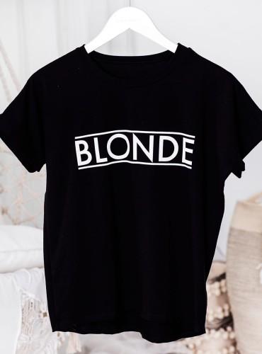T-shirt BLONDE NEW - czarny