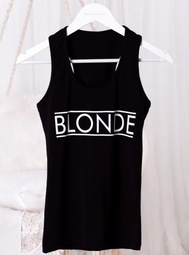Bokserka BLONDE - czarna