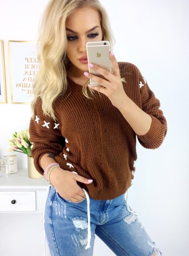 Sweterek Crosana - Camel