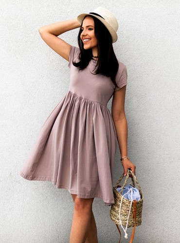 Sukienka SARI - brudny róż/beż
