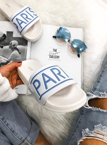 Klapki Paris - niebieskie
