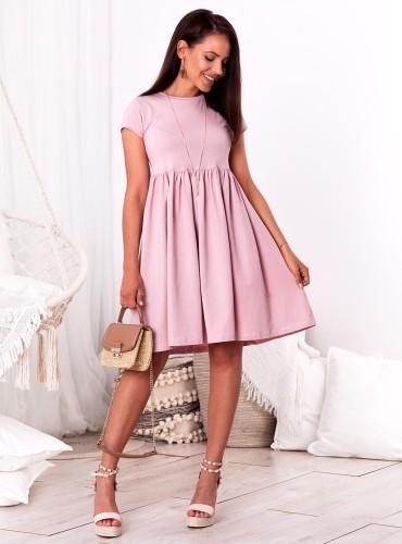 Sukienka SARI - brudny róż