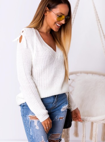 Sweterek JUVILA - kremowy