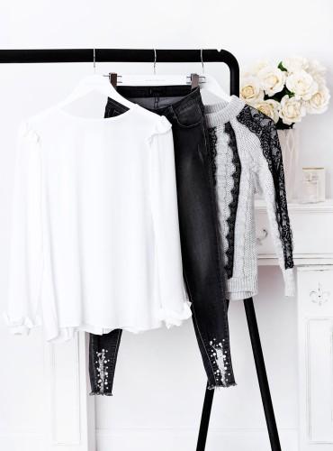 Bluzka ELEGANT - biała