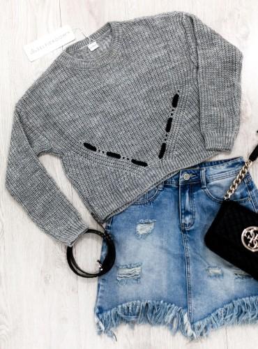 Sweterek CODA - szary