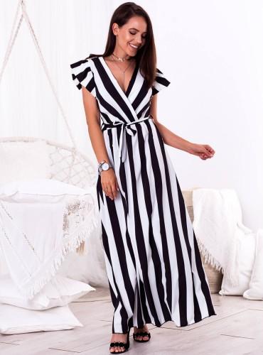 Sukienka LAVINA - czarno biała