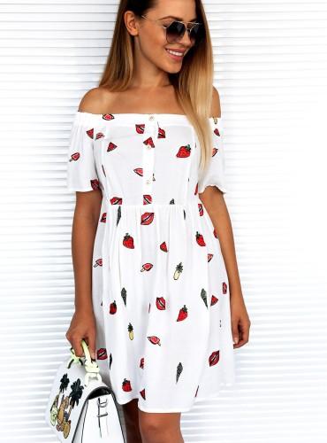 Sukienka SUMMER VIBE - biała