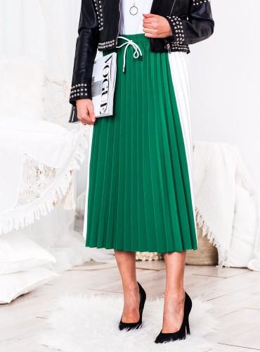 Plisowana spódnica SPORT - zielona