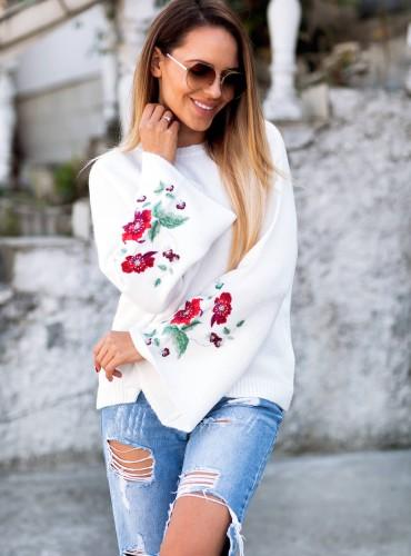 Sweterek Floresa - kremowy