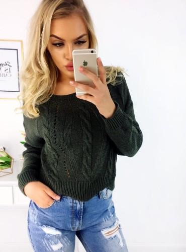 Sweterek ALENA - khaki