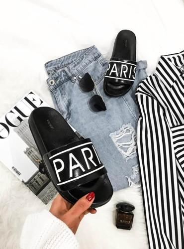 Klapki Paris - czarne