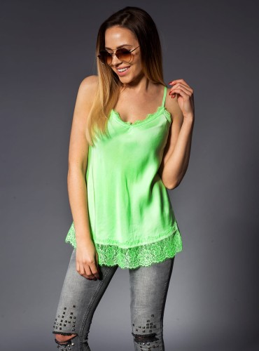 Bluzka SOFT SATIN NEON GREEN