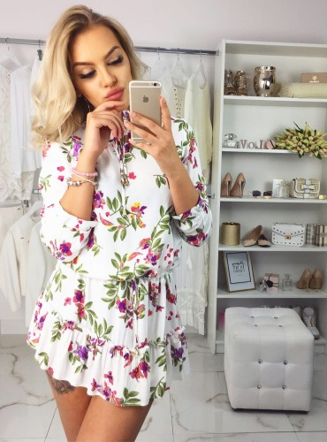 Sukienka Sophia WHITE FLOWERS