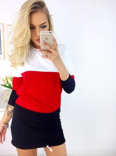 Sukienka/Tunika Keyla - biało czerwona