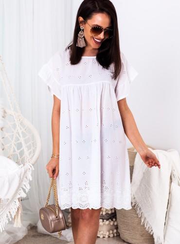 Sukienka BOHO ALLY - biała