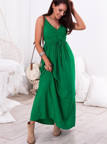 Sukienka MAXI NELLA - zielona