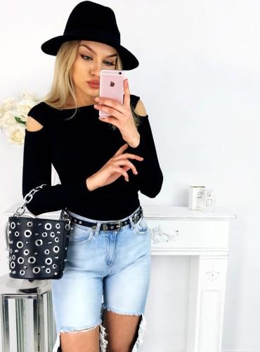 Bluzeczka justine - czarna