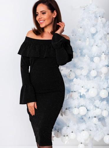 Sukienka SNOW - czarna