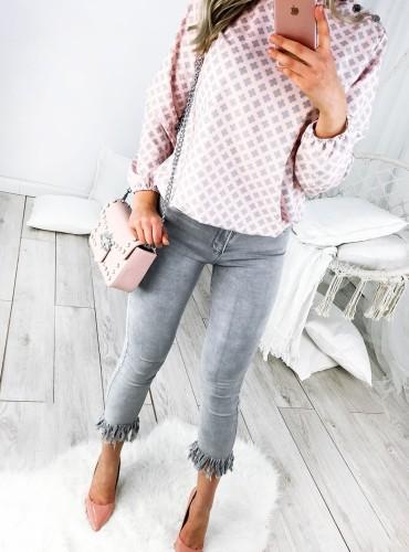 Bluzka CLOVER - pudrowy róż