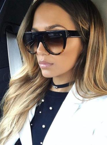 Okulary Celine - brązowe