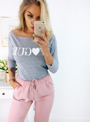 Bluzka Vogue Love - szara