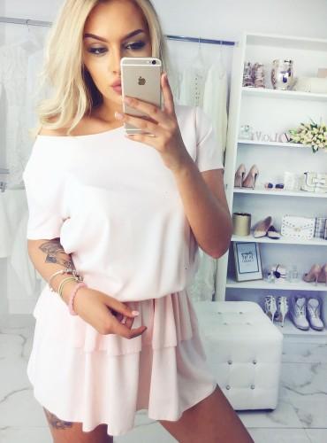 Sukienka LONA - brzoskwinia