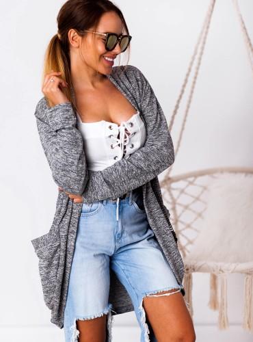 Narzutka/sweterek LISA - szara