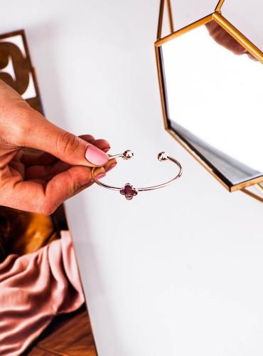 bransoletka koniczynka - gold rose