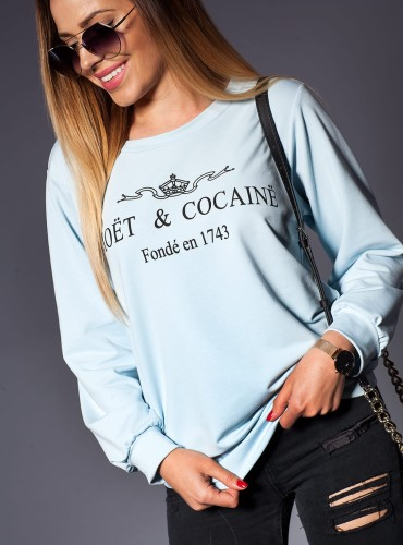 Bluza COCAINE BABY BLUE