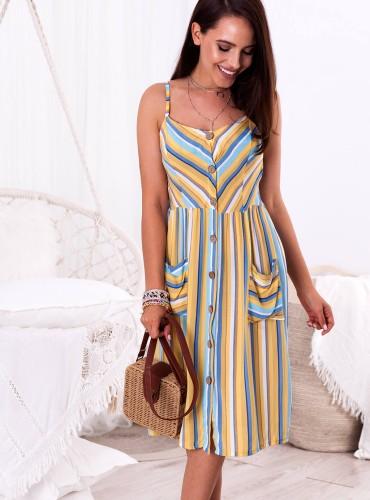 Sukienka AURELIA - żółta