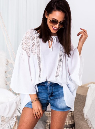 Bluzka BOHO DAPHNE - biała