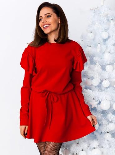 Sukienka DECEMBER - czerwona