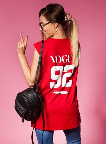 T-Shirt VOGUE NUMBER RED