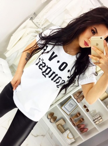 T-Shirt GANGSTA BIAŁY