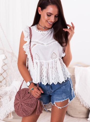 Bluzeczka Eldora - biała