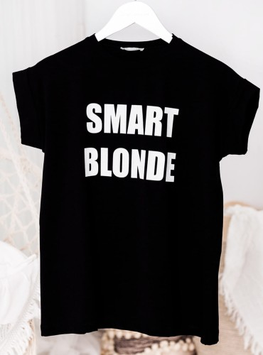 T-shirt SMART BLONDE - czarny