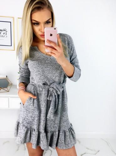 Sukienka Bella - szara