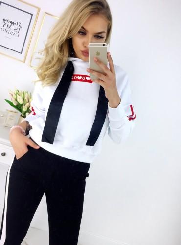 Bluza z kapturem SOCIAL - biała