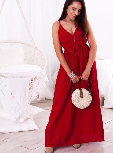 Sukienka MAXI NELLA - czerwona