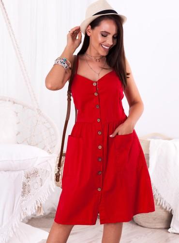 Sukienka GOLDA - czerwona