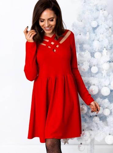 Sukienka SUZY - czerwona